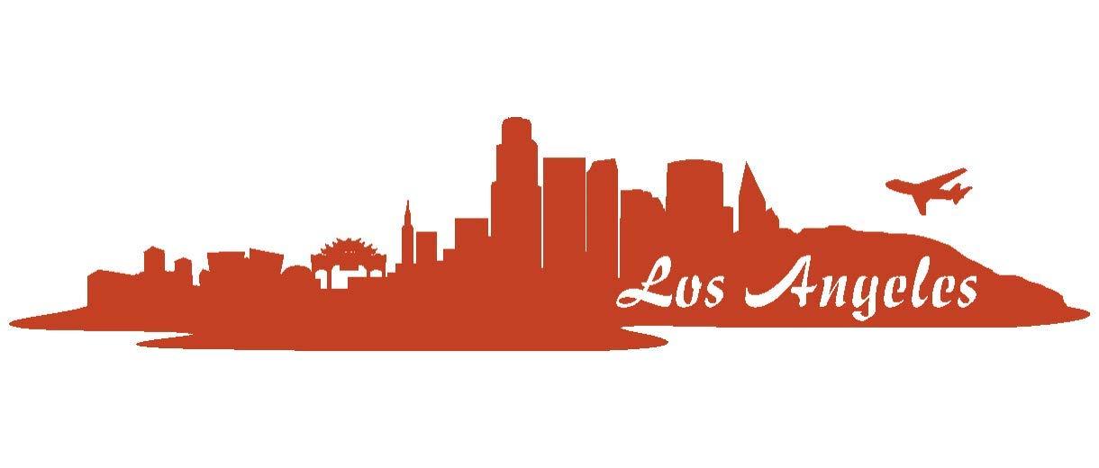 Samunshi® Aufkleber Los Angeles Skyline Autoaufkleber LA LA LA in 9 Größen und 25 Farben (180x39cm kupfermetalleffekt) B009EQ3KLW | Attraktiv Und Langlebig  5d08bd