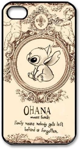iPhone 4S Coque – [Lilo et Stitch Ohana Series] Coque pour Apple ...