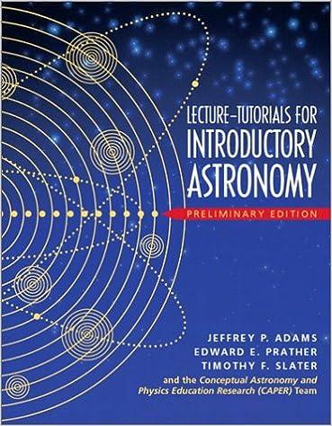 Lecture Tutorials For Introductory Astronomy Preliminary Version Adams Jeffrey P Prather Edward E Slater Timothy F Caper 9780131011090 Amazon Com Books