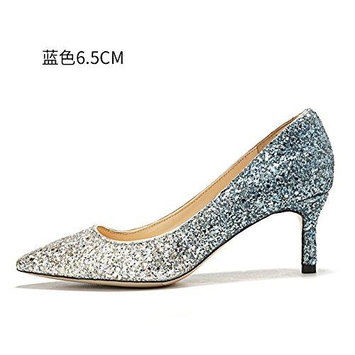 de Blue alto tacón hembra de mujer noche los boda Tacones 6 zapatos de de zapatos HUAIHAIZ cristal Zapatos 5cm qPxgSaISvw
