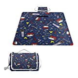 LOIGEIDQ Picnic mat Tool Waterproof Outdoor Picnic Blanket, Sandproof and Waterproof Picnic Blanket Tote for Camping Hiking Grass Travelling DualLayers