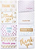 Thank You Cards - Premium Thank You Notes - Bulk Thank You Cards Set in 8 Unique Designs - Includes 40 Cute Thank You Cards and Kraft Envelopes 4x6 inches - Blank Inside