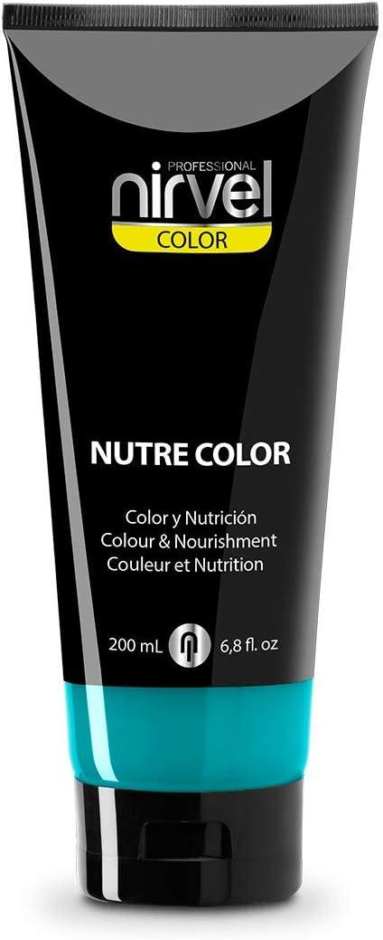 Nirvel NUTRE COLOR FLUOR Turquesa 200 mL Mascarilla Profesional - Coloración temporal - Nutrición y brillo