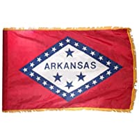 Online Stores Arkansas Nylon Flag Indoor Pole Hem Fringe, 3 5-Feet