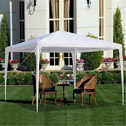 Meoket 118 inch x 118 inch Portable Outdoor Canopy Wedding BBQ Party Tent with Spiral Tubes, Waterproof Sun Shade UV Protection Cover - Portable Tents Party