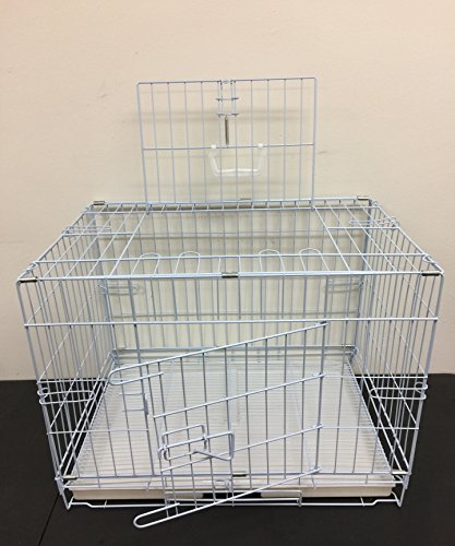 (Mcage New 24 Inch Foldable Top and Side Opening Breeder Puppy Kitten Rabbit Training Cage with 1/2 inch Bottom Wire Grid Mesh Floor)