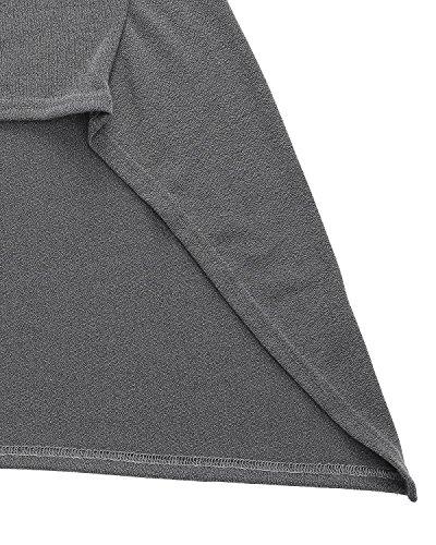 ZANZEA - Vestido - trapecio - Manga Larga - para mujer gris