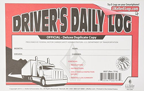 J.J. Keller 8527 Driver's Daily Log Book