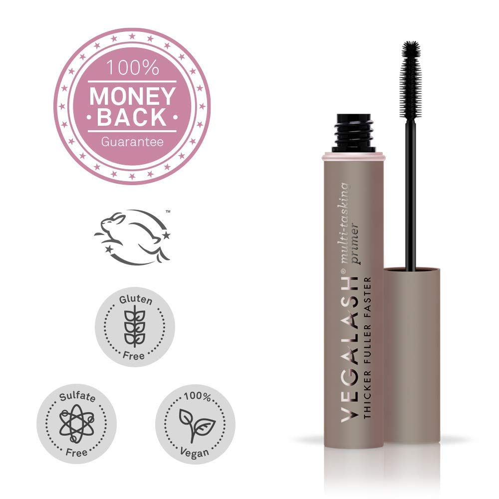 VEGAMOUR Vegalash Lash Primer Conditioner with Eyelash Enhancement Serum – Natural Vegan Plant Based Hormone Free Cruelty-Free Formula Conditions and Nourishes Lashes for Healthy Growth, 8ml
