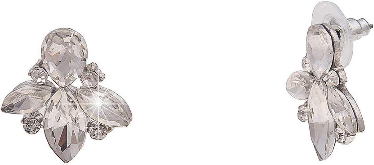Chandelier Statement Strass Ohrstecker funkelnd Gold Silber Ohrringe 4 Farben