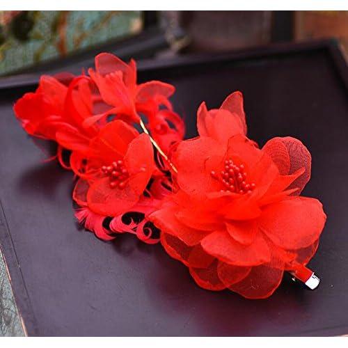 KHSKX-Le Nouveau Japonais Coréen Style Mariée Coiffe, Que La Robe De Mariée De Soie (Clip Fleurs Accessoires Pour Cheveux Doux