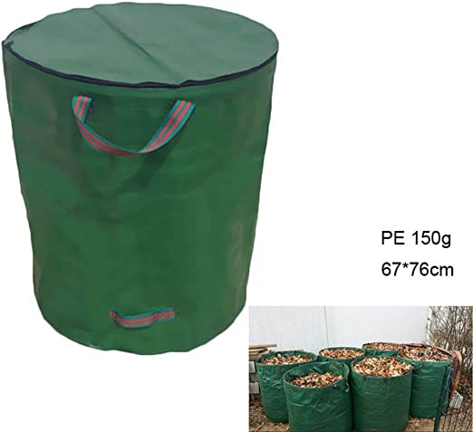 Espeedy Bolsa de jardín,Bote de basura plegable portátil de basura ...