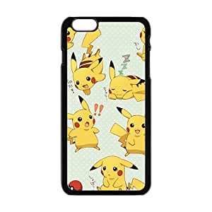 Cool Painting Anime cartoon Pokemon Pikachu Cell Phone Case for Iphone 6 Plus