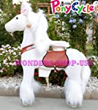 The ORIGINAL Ponycycle Pony Cycle Ride On Horse for Children 4 to 9 Years Old or Up to 90 Pounds - MEDIUM SIZE PONYCYCLE (Color WHITE UNICORN)