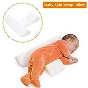 White Newborns Baby Side Sleep Pillow - Maveek Scientific Orthopedic Design Anti-Polarity Head Pillow, Toddlers Safer Sleep Nursing Pillow