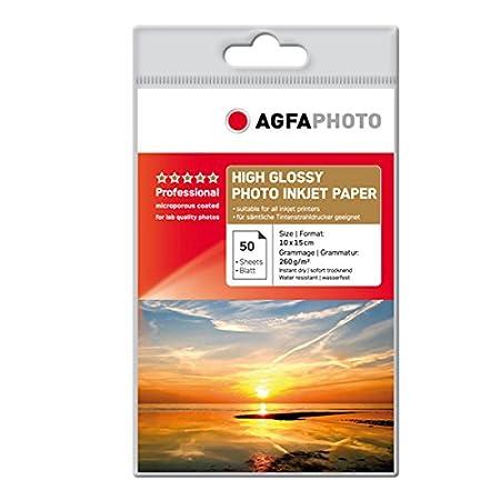 100 Blatt AgfaPhoto Fotopapier Inkjet Papier 10x15 260g Glossy Glänzend