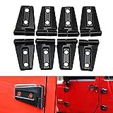 Automotive : Door Hinge Cover for 2007 - 2017 Jeep JK Wrangler Unlimited 4-Door - 8PCS(Black)