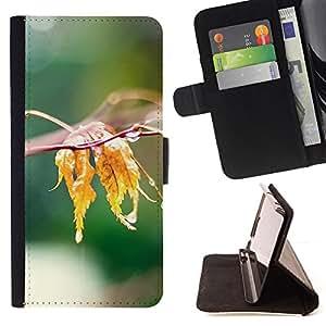 - Nature Water Leaf - - Monedero PU titular de la tarjeta de cr????dito de cuero cubierta de la caja de la bolsa FOR Samsung Galaxy S4 Mini i9190 RetroCandy