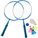 TINTON LIFE 1 Pair Badminton Racket for Children Indoor/Outdoor Sport Game(Blue)