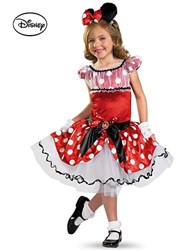 Disguise Girl's Disney Red Minnie Mouse Tutu Prestige Costume, 4-6X -