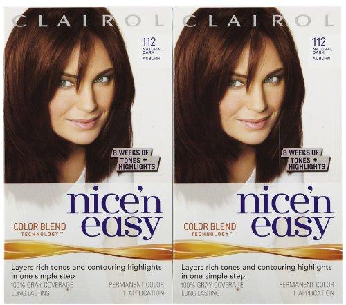 Clairol Nice 'n Easy Hair Color, Natural Dark Auburn (112...