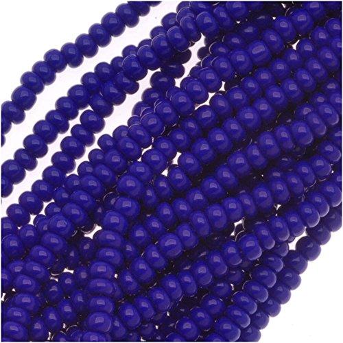 Czech Seed Beads Size 11/0 Royal Blue Opaque (1 Hank/4000 Beads) Dark Blue Czech Seed