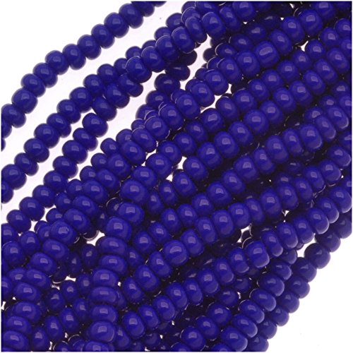 Czech Seed Beads Size 11/0 Royal Blue Opaque (1 Hank/4000 Beads)