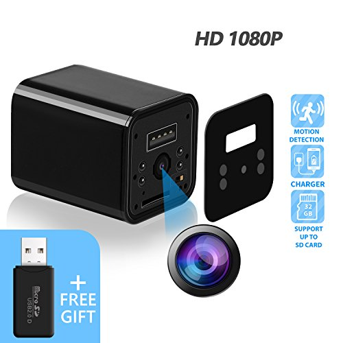 Hidden Camera - JAKIELAX Spy Camera Adapter- 1080P HD USB Charger Camera with Motion Detection and Loop Recording Free Flash Transfer Stick for Protection of Your Home and Office by JAKIELAX