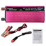 Anddoa 1500W LED Solar Power Inverter 12/24V to 110/220V Modified Sine Wave Converter - 12V-220V