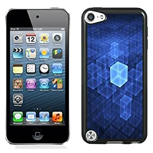 Designed For Iphone 5/5S Case Cover Blue Digital Cubes Phone