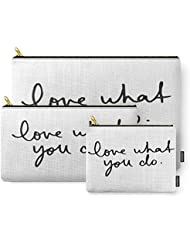 Society6 LOVE WHAT YOU DO Carry-All Pouch