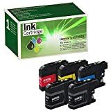 Limeink 5 Pack Compatible 203XL 203 LC203 XL LC203XL High Yield Ink Cartridges (2 Black, 1 Cyan, 1 Magenta, 1 Yellow) For MFC-J4320DW MFC-J4420DW MFC-J460DW MFC-J4620DW MFC-J480DW MFC-J485DW