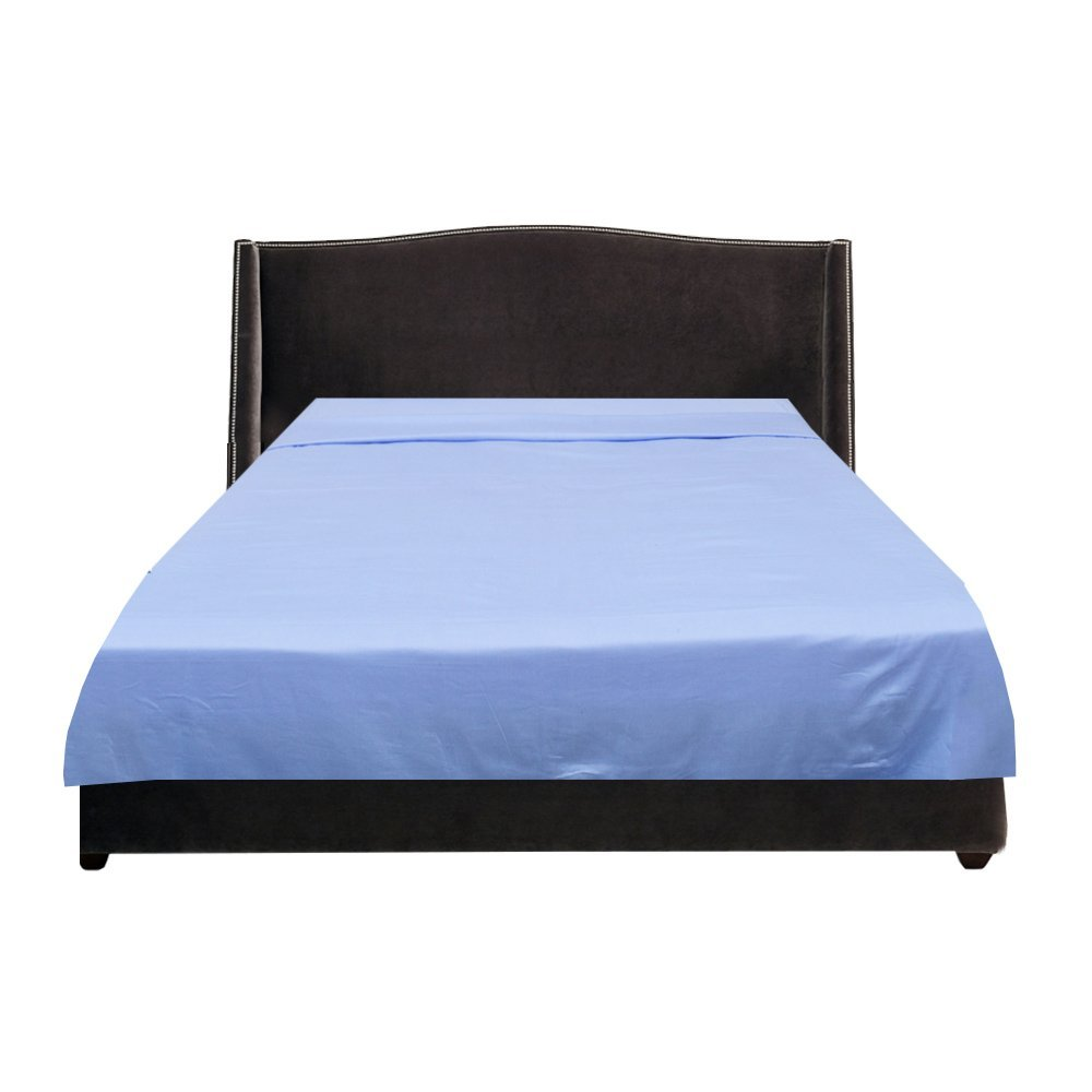 The Midnight Store 1PCs Flat Sheet (Light Blue , Twin) 100% Premium Egyptian Count - Hotel Quality Cotton Fine Italian Finish 1000 Thread Count Fine Italian Finish 800 Thread Count