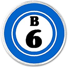 """B 6 B6 Bingo Ball - 3"""" Sew / Iron On Patch Game Hobby Number Board Lucky"""