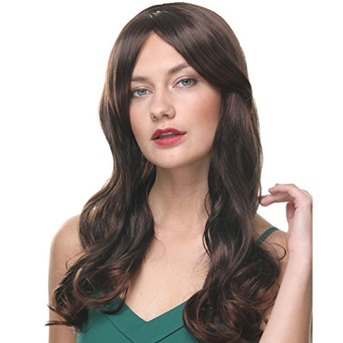 (GOTTA Premium Long Wavy Ash Brown Wigs for Women Loose Wave 22Inch Synthetic Ladies Wig 180℃ Heat Resistant Kanekalon Extensions 1 Month Guarantee (22INCH)