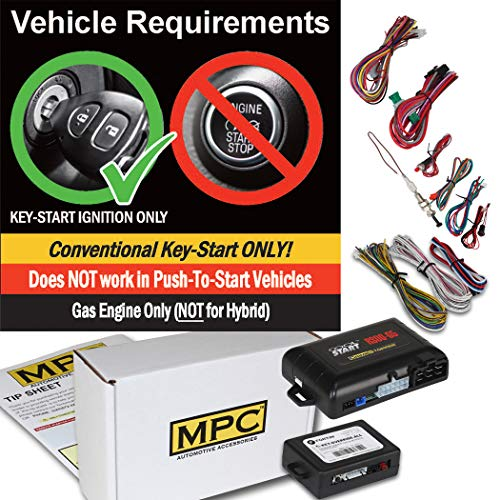 MPC Factory Remote Activated Remote Start Kit for 2016-2018 Acura RDX Push-to-Start Firmware Preloaded Plug-in T-Harness
