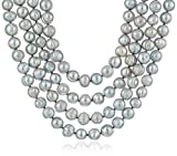 Bella Pearl Gray Endless Pearl Strand Necklace, 80""