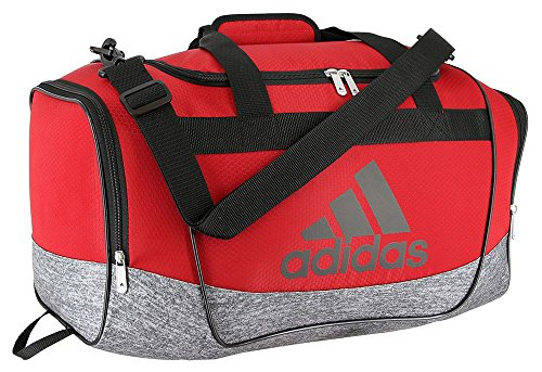 adidas Defender II Duffel Bag (Small, Power Red/Onix Jersey/Black)