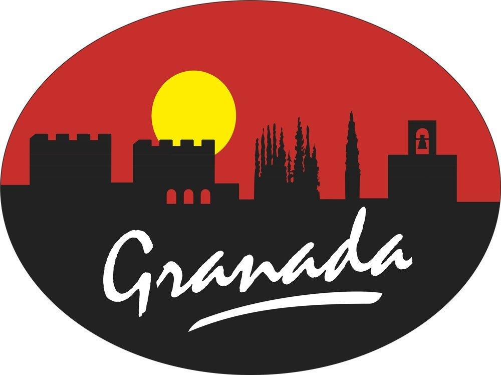 Artimagen Pegatina Oval Perfil Granada 80x60 mm.