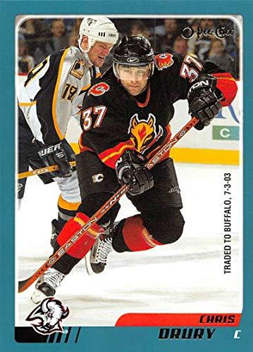 - 2003-04 O-Pee-Chee Hockey Card #126 Chris Drury Calgary Flames Official NHL Trading Card