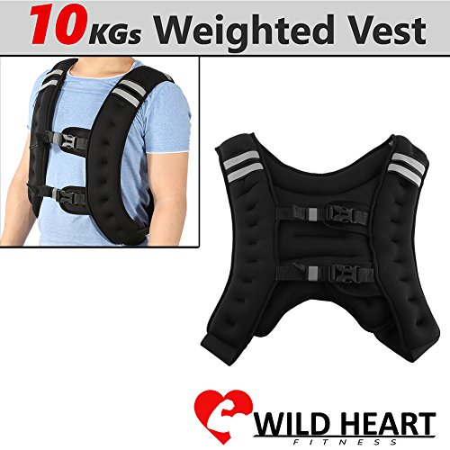 Zerone Weighted Vest, 22 Pounds Fixed Weight Iron Exercise Weighted Vest with Adjustable Buckle for Workout Fitness Resistance Training