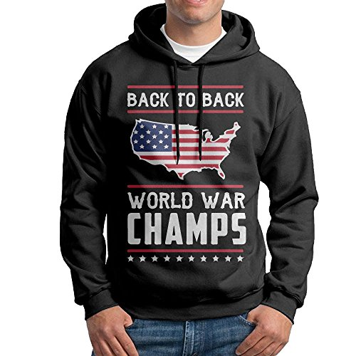 - Men's Back-to-Back World War Champs Cotton Pullover Hoodie Cozy Sport Outwear