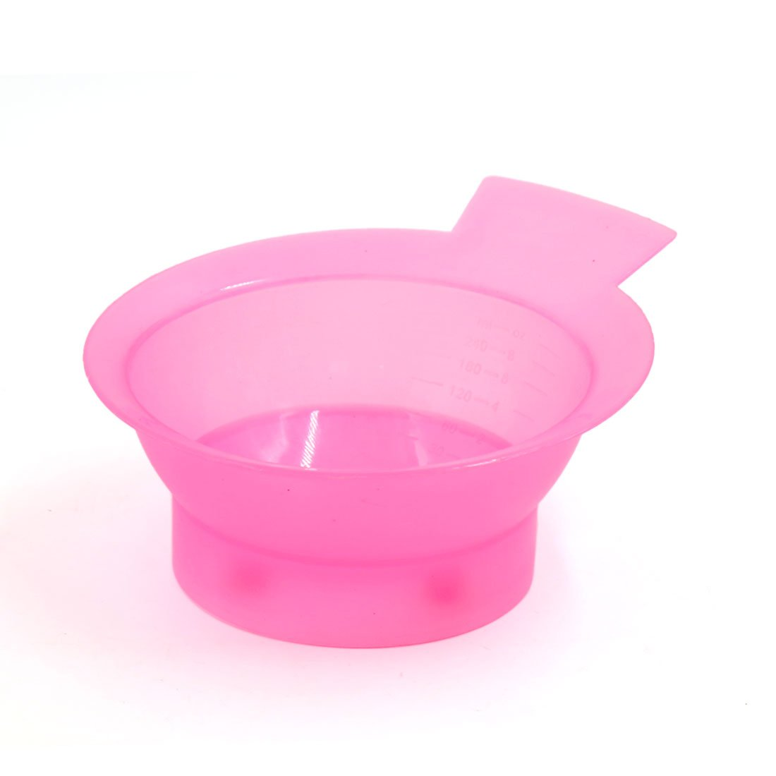 uxcellPink Plastic Dyeing Bleaching Hair Styling Color Bowl Mixing Measuring Container a17022400ux0287