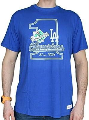 3c8d5311436 Amazon.com   Mitchell   Ness Los Angeles Dodgers MLB 1988 World Series  Premium Men s T-Shirt   Sports   Outdoors