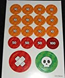 Pokemon Collectible Game Cardboard Damage Counter Set