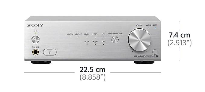Sony UDA-1S - Amplificador de 46 W (2 x 23 W, 100 dB, 2 x RCA, USB), plateado: Amazon.es: Electrónica