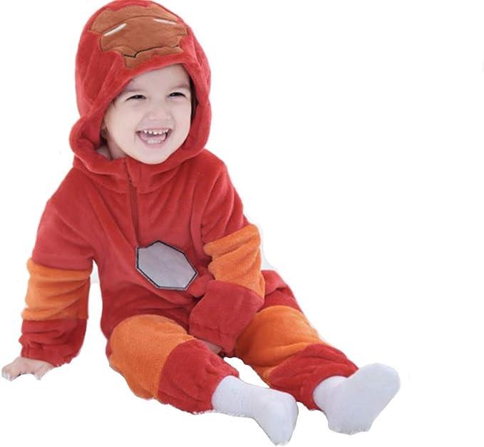 Pijama de Iron Man para bebé, unisex, disfraz de mono para cosplay ...