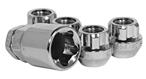 Open End Bulge Acorn Chrome M12 x 1.50 Thread Size Premium Wheel Lock Set (Set of 4)