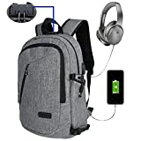 BstAmzStore 3in 1 Laptop Backpack,USB Backpack Bookbag with Lock, Multiple Pockets, Headphone Port, Business Antitheft Waterproof  15.6 inch Rucksack Laptop Backpack with USB Charging Port
