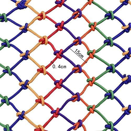 カラー保護ネット/装飾的なネットナイロンロープネット安全ネットバルコニー、階段落下防止ネットフェンスネットネット幅4メートル (Size : 4*4m)